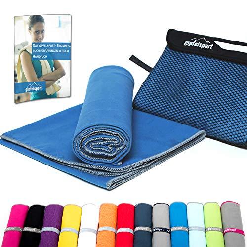 Mikrofaser Handtuch Set - Microfaser Handtücher für Sauna, Fitness, Sport I Strandtuch, Sporthandtuch I 1x S(80x40cm) I Blau