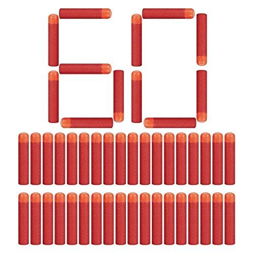 Little Valentine 60 Stück 9,5cm Mega Dart Schäumen Mega Pfeile Nachfüllpackung für N-Strike Mega Series - Rot
