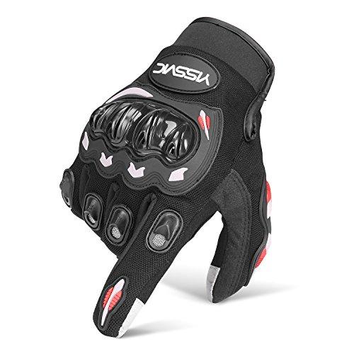 Yissvic Motorrad Handschuhe Motorradhandschuhe Touchscreen Sport Handschuhe für Motorrad Radfahren Camping Outdoor M(Verpackung MEHRWEG)