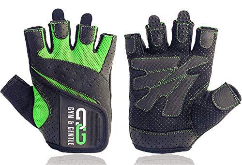Gym & Gentle Damen Fitness Handschuhe - Schutz für Frauen beim Sport/Kraftsport/Fahrrad/Bodybuilding/Hanteltraining/Gym (Grün, S)