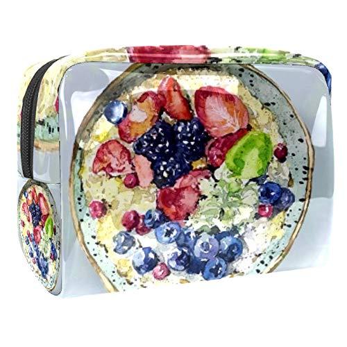 Tragbare Make-up-Tasche mit Reißverschluss, Reise-Kulturbeutel für Frauen, praktische Aufbewahrung, Kosmetiktasche, Fettreduzierung, Obst, Joghurt