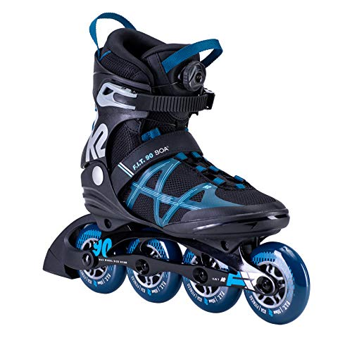 K2 Skates Herren F.I.T. 90 BOA Inline Skates, black-blue, 42.5 EU (8.5 UK)