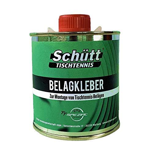 Schütt-Tischtennis Belagkleber Pinseldose (250 ml) - Kleber für Tischtennis Beläge   Lösungsmittelhaltig   TT-Spezial