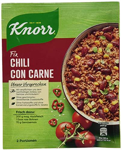 Knorr Fix Würzbasis (für die schnelle Zubereitung Chili con Carne), 2 Portionen, 33g