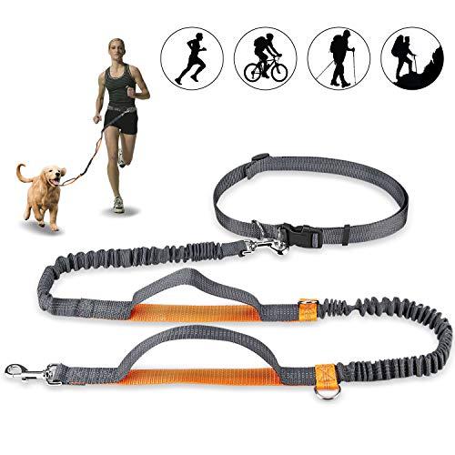 Mystery Handfreie Hundeleine, Hundegürtel,Taillengürtel, Hundeleine, Koppler, Lauf- und Jogging-Leine, Gürtel mit einziehbarem Bungee, reflektierende Nähte für bis zu 110 kg Hunde