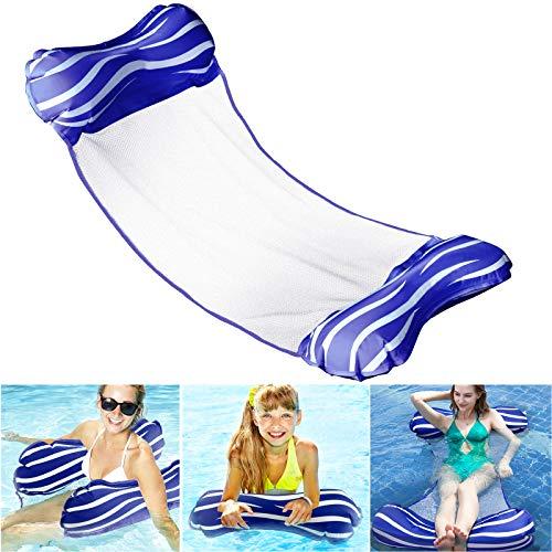 Aiglam Wasser Hängematte , Pool 4-in-1-luftmatratze Aufblasbare Wasserhängematte , Aufblasbares Schwimmbett Schwimmbad Luft Sofa Schwimmstuhl Bett Drifter Swimmingpool Beach Float für Erwachsene