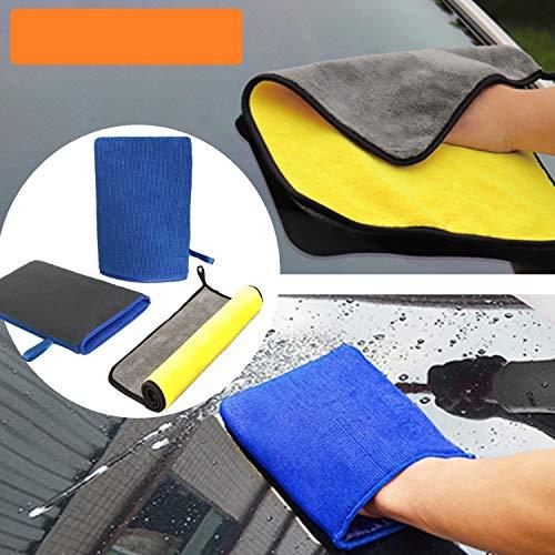 bangminda Auto Waschhandschuhe Reinigungsknete + Mikrofaser Handschuhe, Handschu mit Feiner Tonerde-Beschichtung für Autowäsche Waschen und Vorbereiten der Oberfläche vor dem Verzieren