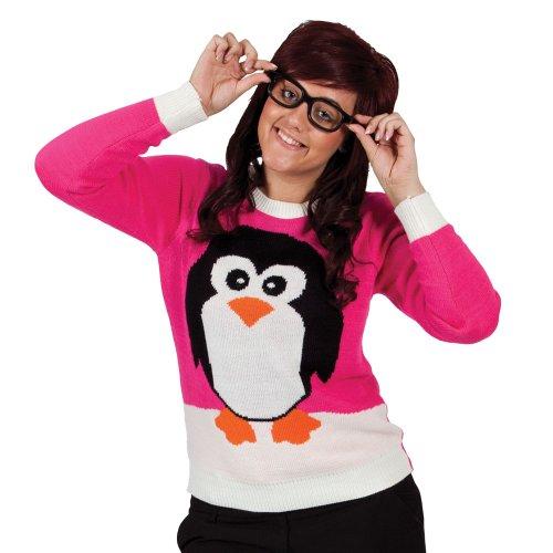 Crimbo Jumper - Pink / Penguin (L)