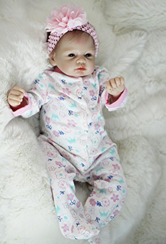 Scnbom 22inch 55cm Reborn Babys mädchen silikon wie echte Puppen lebensechte babypuppe Toddler Augen offen Junge günstig