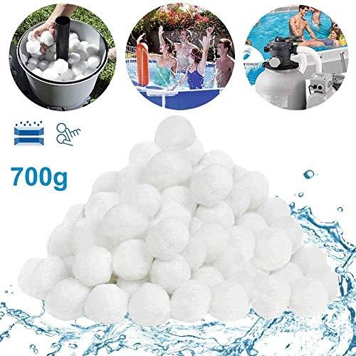 Filter Balls , Pool Filterbälle700g ersetzen 25kg Filtersand/Quarzsand, Poolzubehör Pool Reinigung für Sandfilteranlagen, Poolfilter für Kristallklares Wasser, entfernt feinste Schmutzteilchen