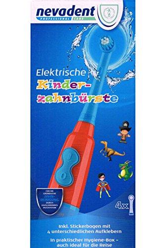 Nevadent Elektrische Kinder Zahnbürste NKZ 3 A1 für Jungen Inkl Sticker und Box (Blau)
