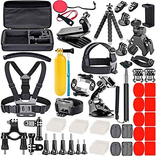 Zubehör GoPro Action Cam Black Halterung für GoPro Hero 7 8 9, DJI Osmo Action Helmhalterung, E Bike Zubehör für Kamera 4k, XIAOYI Apeman (70 Stück)