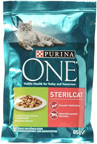 One Sterilcat Katzenfutter mit Truthahn und grnen Bohnen, 85 g