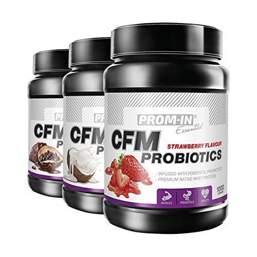 PROM-IN Essential CFM Probiotics | Premium natives Molkenprotein | Infundiert mit starken Probiotika | 1000g oder 2250g (Schokolade, 1000g)