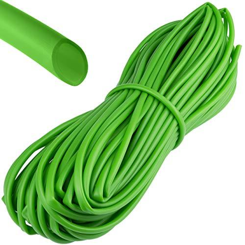 BABQO 30m Ø 4mm weicher Bindeschlauch – für Pflanzen und Bäume, besonders schonende Hohlschnur für den Garten, Frost- und UV-sicher, Grün, 30 Meter Länge - 4mm Dicke
