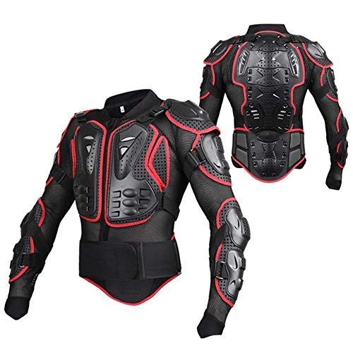 Wildken Motorrad Schutz Jacke Pro Motocross ATV Protektorenjacke mit Rückenprotektor Scooter MTB Enduro für Damen und Herren (Rot, M)