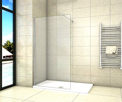 Aica Sanitär Duschwand Walk In Dusche 70cm Duschabtrennung 8mm NANO Glas Duschtrennwand 200cm Höhe
