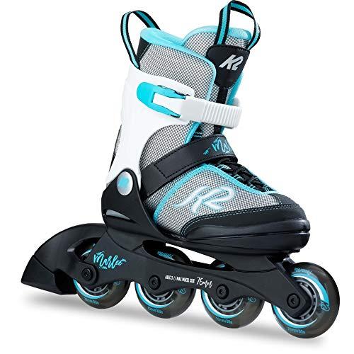 K2 Skates Mädchen Inline Skate Marlee — black - grey - light blue — M (EU: 32-37 / UK: 13-4 / US: 1-5) — 30B0202
