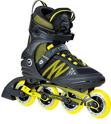 K2 Herren Inline Skates F.I.T. Pro 84 - Schwarz-Gelb - EU: 36.5 (US: 5 - UK: 4) - 30B0013.1.1.050
