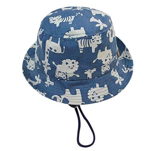 Cloud Kids Sonnenhut Baby UV-Schutz Fischerhut Kappe Sommerhut Tierdruck Hut Freizeithut Blau 50