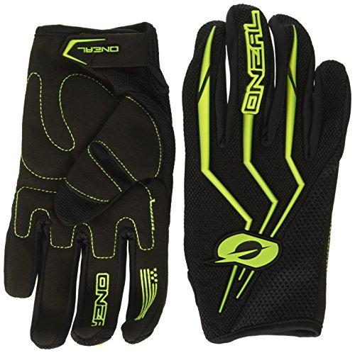 O'NEAL | Motocross-Handschuhe | MX MTB Mountainbike Enduro Motorrad | Sichere Passform, Ergonomische Polsterung, TPR-Streifen | Element Glove | Erwachsene | Schwarz Neon Gelb | Größe S