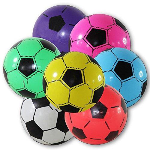 4 x Kunststoffball Fussball Ball 20 cm