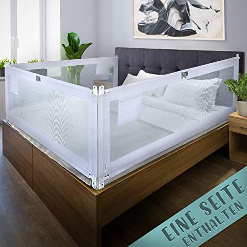 Kids Supply Bettgitter [180x80 cm]- Sicheres & höhenverstellbares Bettschutzgitter [70-90 cm]- Rausfallschutz Bett für Kinder Bett & Elternbett [eine Seite]