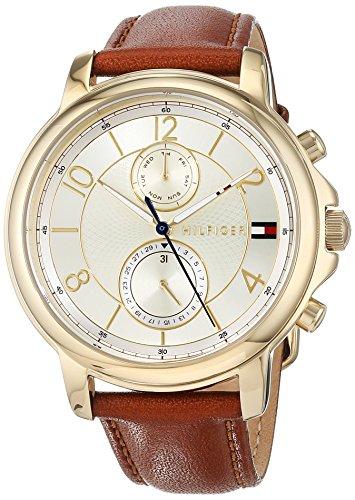 Tommy Hilfiger Damen Multi Zifferblatt Quarz Uhr mit Leder Armband 1781818
