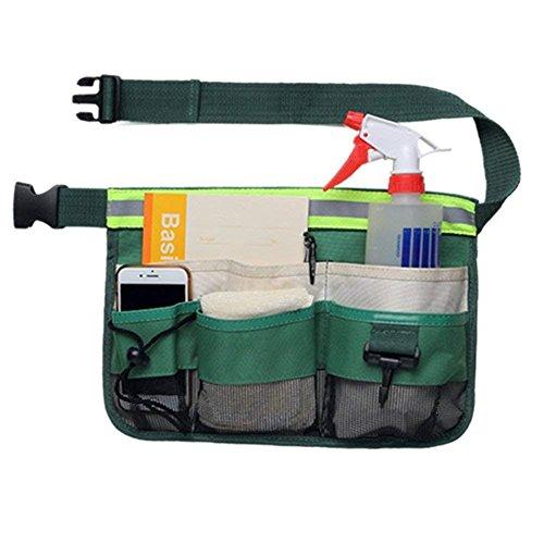 Gürteltaschen mit 7 Taschen, mit reflektierenden Streifen, verstellbare Garten-Hüfttasche, zum Aufhängen, Zange, Schraubenschlüssel, Aufbewahrungstasche, Werkzeug für Zuhause, Hinterhof, Restaurant