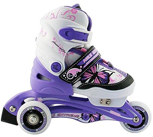 Nils Extreme Kinder Inline Skates NJ9128A Inliner Rollschuhe (Violet, 26-29)