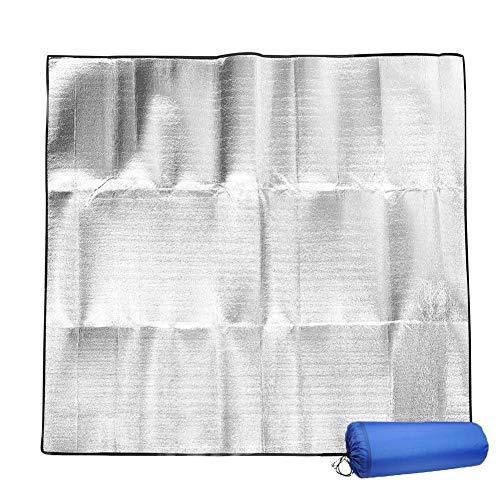 Lifesongs Isomatte Schaummatten 200x200 cm Isoliermatte Isolierdecke Faltbare Zeltmatte Bodenmatte Thermomatte Schlafmatte Für Camping Matte Aus Aluminiumfolie, Ultraleicht