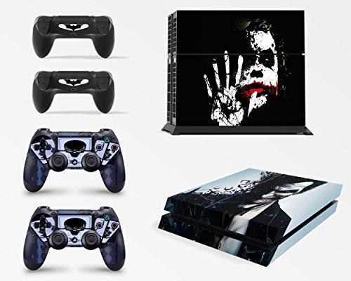 giZmoZ n gadgetZ GNG PS4 Konsolen-Gehäuseaufkleber, Motiv: Dark Joker, inklusive 2er-Set mit Aufklebern für Controller