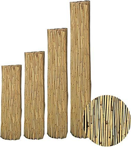 interGo Sichtschutzmatte, Schilfrohrmatte Premium 180x600cm (HxB), Sichtschutz aus dichtem Schilf, Schlfmatten für Balkon, offene Terrasse und Gartenzäunen