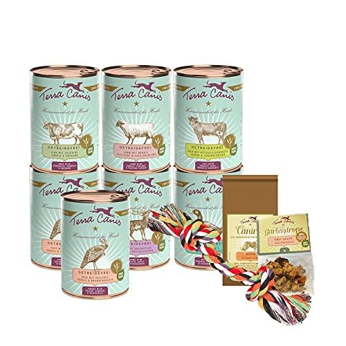 Terra Canis Kennenlernpaket M - Getreidefrei, 7x400g, 50g Canireo, 12g Gartendrops & Goodie I Premium Hundefutter in 100% Lebensmittelqualität Aller Rohstoffe I Reichhaltig & gesund I Glutenfrei