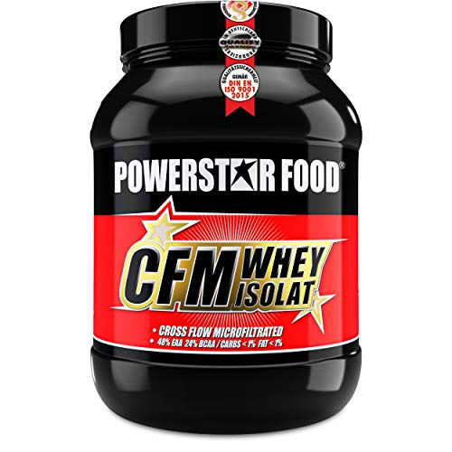 100% CFM WHEY ISOLAT - Whey Protein Isolate aus Weidenmilch mit 98% i.Tr. Proteingehalt - Höchste Qualität - Cross-Flow Microfiltrated - Made in Germany - 1000g (Nature)