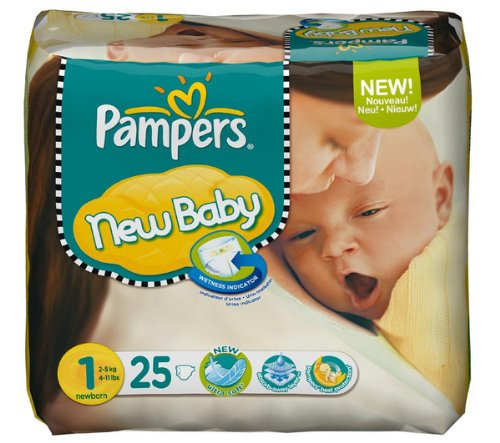 Windeln New Baby Größe 1 Newborn (2-5 kg) - 1 Paket x 25 Windeln