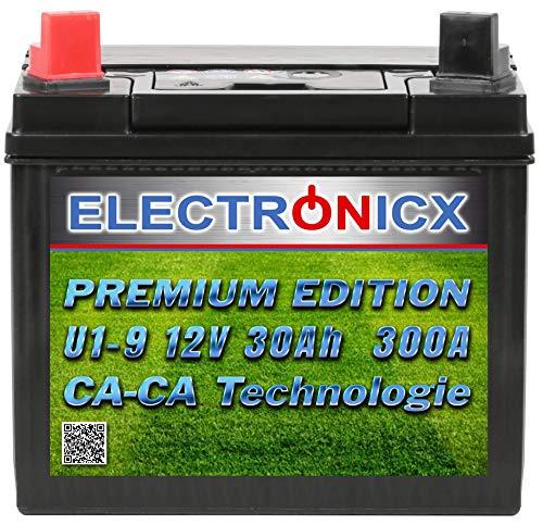 U1(9) 30AH 300A (EN) Green Power Batterie für Aufsitzrasenmäher, Gartengeräte, Starterbatterie, Wartungsfrei, Calcium Technologie