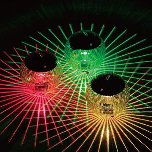 Schwimmende Pool Licht Solar Teichbeleuchtung Schwimmende wasserdichte Solar Schwimmkugel Pool Lampen Beleuchtung Kugelleuchte für Teich Garten Baum Dekoration