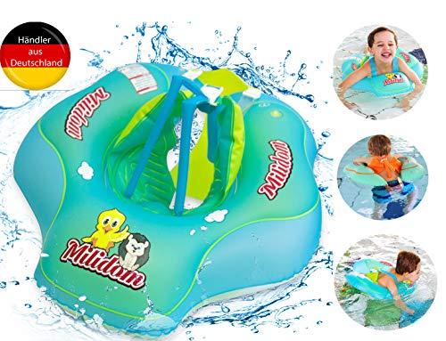 Milidom® Baby Schwimmring I Mitwachsender Schwimmreifen für Babys I Baby Float Kinder ab 12 Monate bis 5 Jahre bis 20 kg