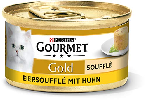 PURINA GOURMET Gold Soufflé Katzenfutter nass, luftige Konsistenz, mit Huhn, 12er Pack (12 x 85g)