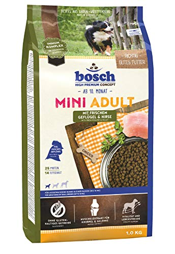 bosch HPC Mini Adult mit frischem Geflügel & Hirse | Hundetrockenfutter für ausgewachsene Hunde kleiner Rassen (bis 15 kg) | 1 x 3 kg