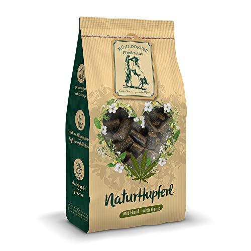 Mühldorfer NaturHupferl Hanf, 1 kg, naturgesunde Leckerli für Pferde, getreidefrei, ohne Melasse und Zusatzstoffe, zucker- und stärkereduziert
