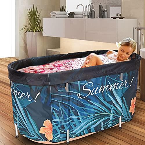 InLoveArts Tragbare faltbare Badewanne für Erwachsene 120 x 60cm Badewanne Faltende Fass Erwachsenen Wanne aufblasbare Badewanne - Temperaturerhaltung, nicht aufblasbar