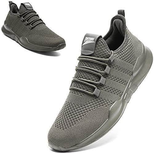 MGNLRTI Sneaker Herren Laufschuhe Outdoor Sportschuhe Joggingschuhe Straßenlaufschuhe Walkingschuhe Turnschuhe Fitness Schuhe,Grau,43 EU Schmal