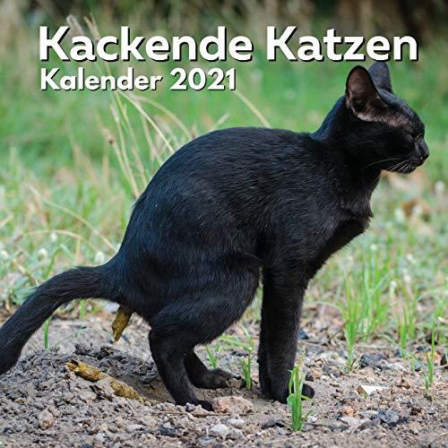 Kackende Katzen Kalender 2021: Katzenliebhaber Geschenke Lustig   Kackende Katze   Katzengeschenke für Männer Madchen Menschen Erwachsene Frauen Kinder Geburtstag Weihnachten