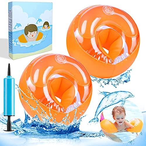 YOFIG Schwimmflügel Baby, Schwimmhilfe für Kleinkinder, Schwimmreifen Armumfang 21-23cm, Schwimmring für 1-4 Jahre Jungen Mädchen Babys, Sichere im Pool und Freibad, Empfohlenes Gewicht 6-20kg(Orange)