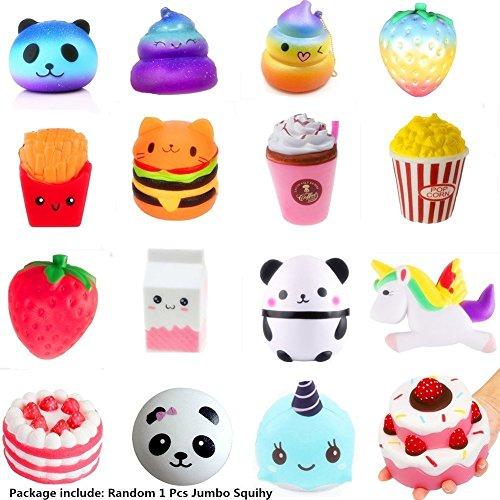 Lent Squishies Erdbeere und Banane Pfirsich Bär Kawaii Squishies Spielzeug für Kinder und Erwachsene Squishy Toy Slow Rising Toys Stress Relief Squeeze Toys for Kids Adults (Zufällige Farbe, eine)