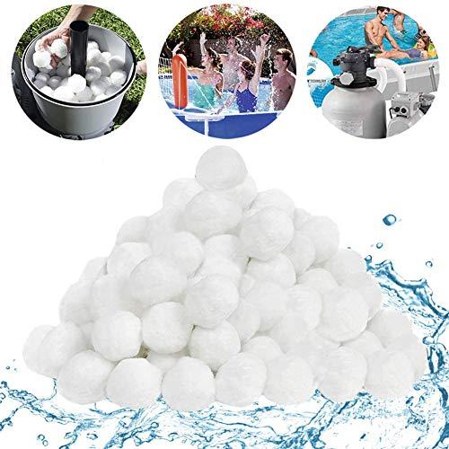 Pool Filterbälle, Lyeiaa Filter Balls 700g ersetzen 25kg Filtersand/Quarzsand, Poolzubehör Pool Reinigung für Sandfilteranlagen, Poolfilter für Kristallklares Wasser, entfernt feinste Schmutzteilchen