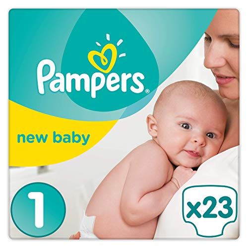 Pampers Premium Protection Baby Windeln, Gr.1 Newborn (2-5 kg), Tragepack, 4er Pack (4 x 23 Stück)