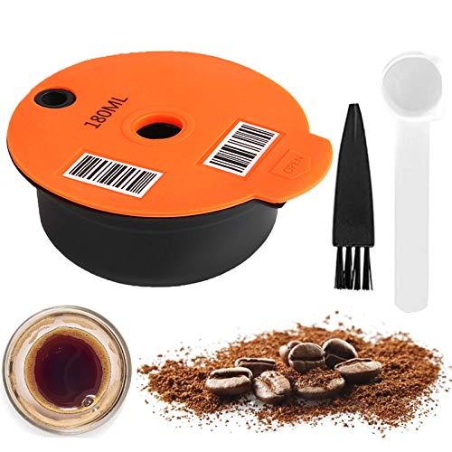Kaffeepads, wiederverwendbarer Kaffeefilter, nachfüllbare Kaffeekapseln für Bosch-s Kompatibel mit Tassimo-Maschinen mit lesbarem Barcode (180 ML)